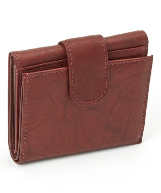 Mundi Burgundy Snap Checkbook Cover
