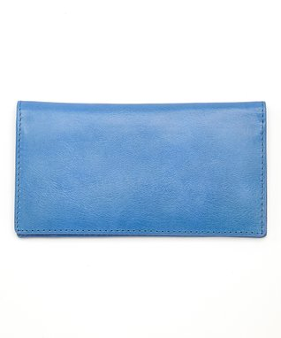 Gemelli International Blue Checkbook Cover