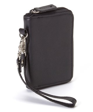 Gemelli International Black Mini Zip Wallet
