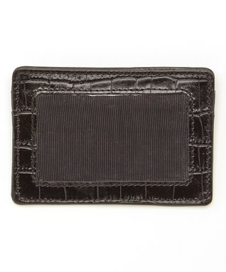 Gemelli International Black Crocodile Window Card Case