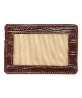 Gemelli International Brown Crocodile Mini Zip Wallet