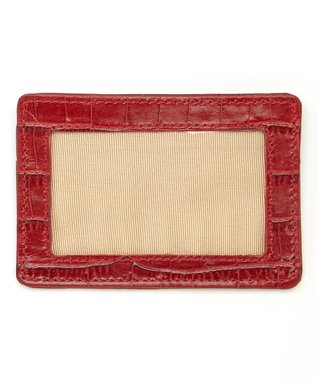 Gemelli International Red Crocodile Window Card Case