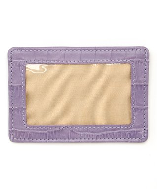 Gemelli International Purple Crocodile Window Card Case