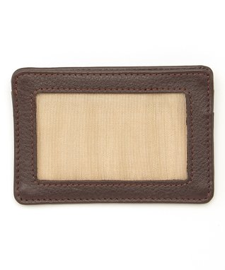 Gemelli International Brown Window Card Case