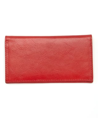 Gemelli International Red Checkbook Cover