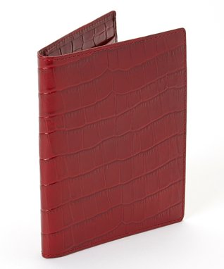 Gemelli International Red Crocodile Passport Cover