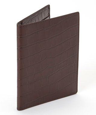 Gemelli International Brown Crocodile Passport Cover