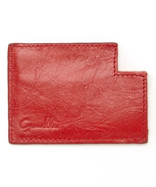 Gemelli International Brown Crocodile Window Card Case