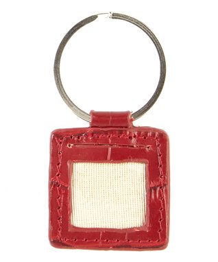 Gemelli International Black Crocodile Picture Key Fob