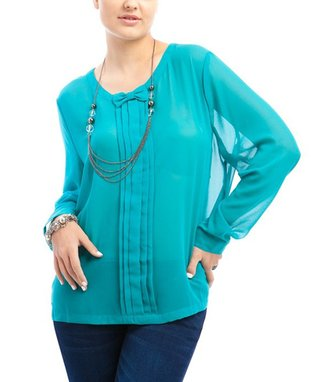 Magenta & Leopard Sheer Sleeveless Button-Up - Plus