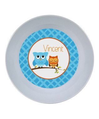 Blue Fish Personalized Bowl