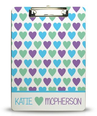 Heart You Personalized Clipboard