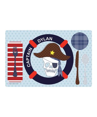 Pirate Captain Personalized Plate