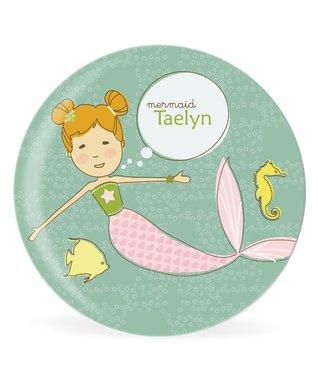 Blonde Mermaid Personalized Plate