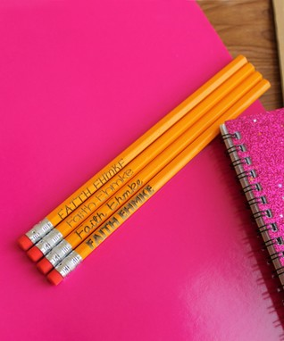 Yellow Personalized Pencil Set