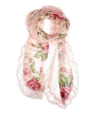 East Cloud Green & Pink Floral Infinity Scarf