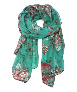 East Cloud Blush Crocheted Floral Silk-Blend Scarf