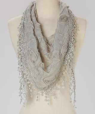 Hot Pink Sequin Lace Scarf