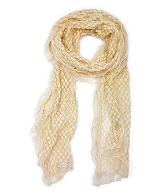 East Cloud Cream Textured Scarf