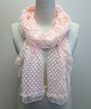 East Cloud Pink Textured Scarf