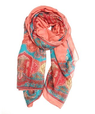East Cloud Blush Paisley Scarf