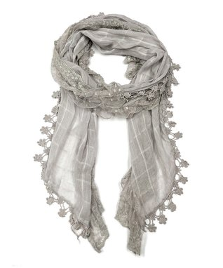 East Cloud Light Gray Textured Scarf