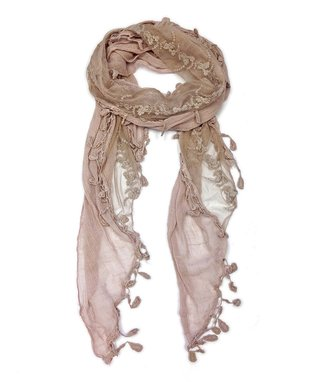 East Cloud Black Abstract Fringe Scarf
