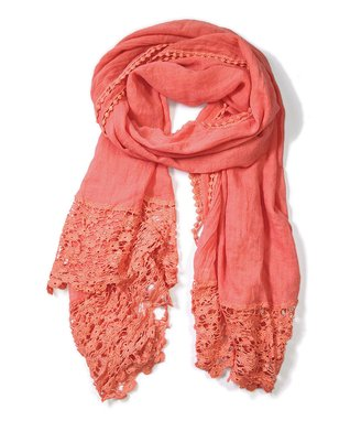 East Cloud Coral Crocheted Scarf