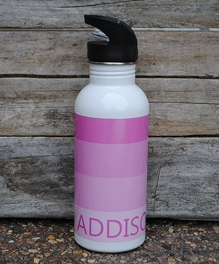 Pink Gradation Personalized Water Bottle