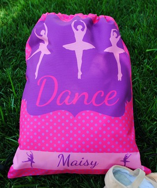 Dance Personalized Drawstring Tote