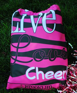 Cheer Personalized Drawstring Tote