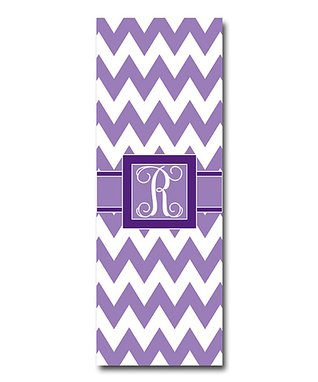 Little Goddess Boutique Purple Zigzag Initial Yoga Mat