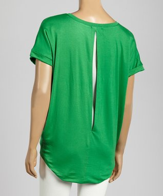 Trisha Tyler Apple Green Cutout Top