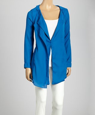 Trisha Tyler Rose Berry One-Button Jacket