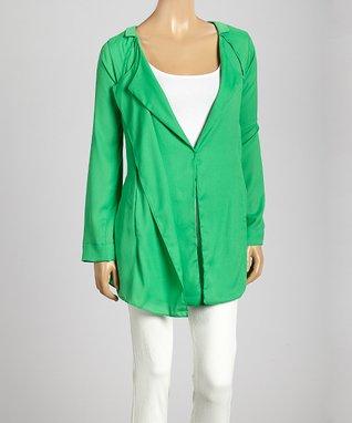 Trisha Tyler Apple Green One-Button Jacket
