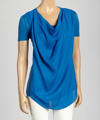 Trisha Tyler Passion Blue One-Button Jacket