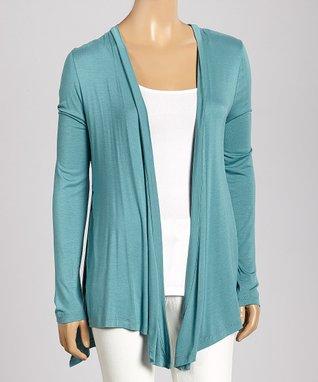 Trisha Tyler Dusty Turquoise Paisley Long-Sleeve Top