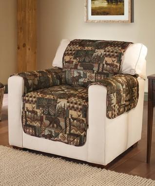 Gray Optics Sofa Slipcover