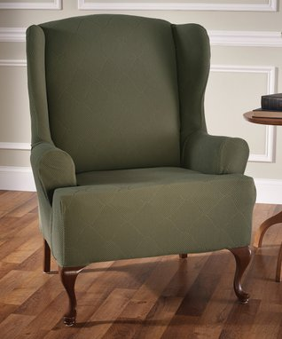 Olive Plush Chair Furniture Protector