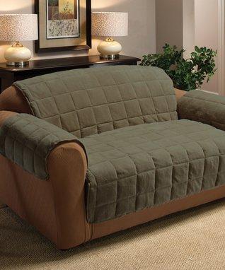 Coffee Coral Fleece Furniture Throw