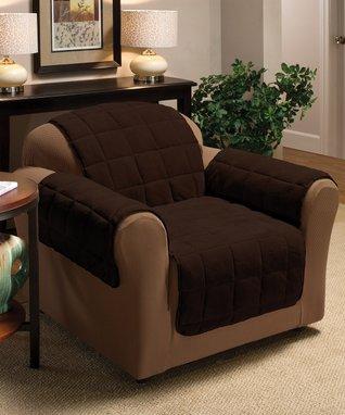 Black Plush Furniture Protector