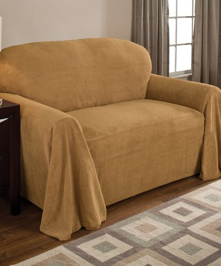 Chocolate Stretch Faux Leather Futon Slipcover