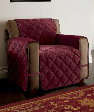 Burgundy Velvet Ultimate Chair Furniture Protector