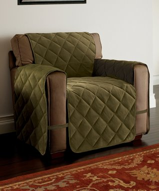 Gray Optics Love Seat Slipcover