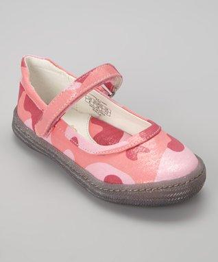 ENZO Pink Camo Carmela Mary Jane