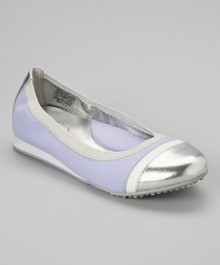 ENZO Lavender Drea Cap-Toe Flat