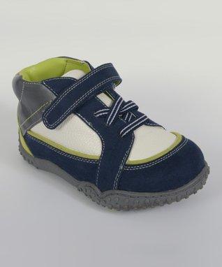 ENZO Navy Blue & White Sneaker