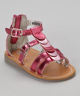 ENZO Pink Francesca Scallop Sandal