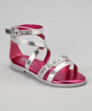 ENZO Silver Leona Glitter Sandal