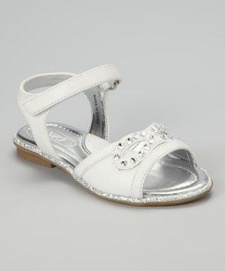 ENZO White Leona Stones Sandal